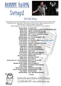 Rat Pack Swing Songs
